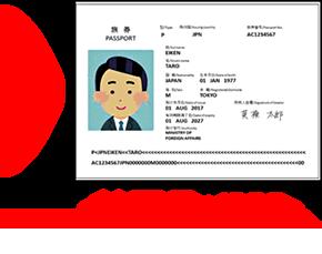 パスポート写真のサンプル