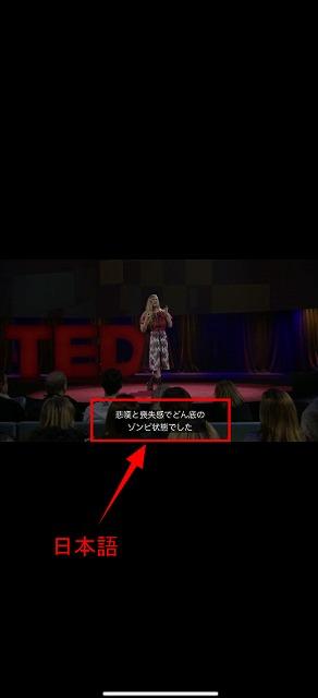 tedアプリ設定字幕日本語