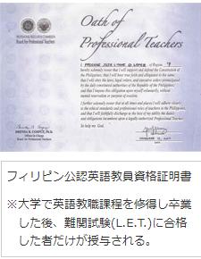 政府公認英語教師資格者証明書