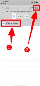 iCloud driveに移動
